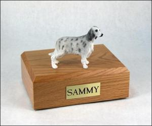 English Setter, Blue Belton Dog Figurine Cremation Urn