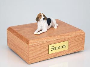 American Foxhound  Dog Figurine Cremation Urn