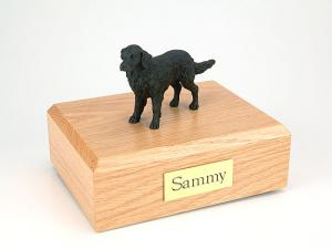 Flat Coated Retriever  Dog Figurine Cremation Urn