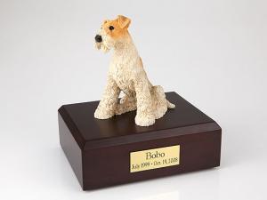 Fox Terrier  Dog Figurine Cremation Urn