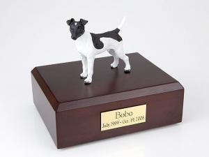 Fox Terrier, Smooth-Black/White  Dog Figurine Cremation Urn