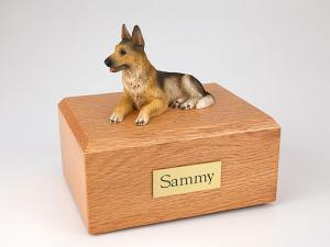 German Shepherd Dog Figurine Cremation Urn