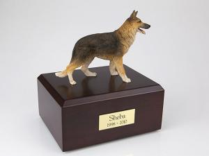 German Shepherd Standing Dog Figurine Cremation Urn