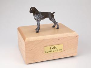 German Shorthair Standing  Dog Figurine Cremation Urn