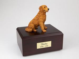 Golden Retriever, Sitting  Dog Figurine Cremation Urn