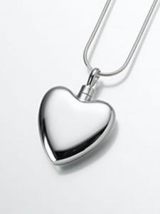 Sterling Silver Heart Keepsake Cremation Urn