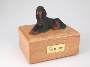 Gordon Setter Dog Figurine Cremation Urn