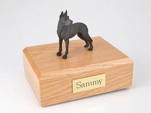 Great Dane, Black - ears up Standing Dog Figurine Cremation Urn