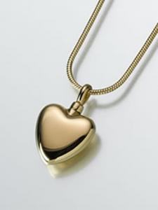 Gold Heart Keepsake Cremation Urn