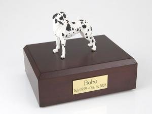 Great Dane, Harlequin - ears down Standing Dog Figurine Cremation Urn
