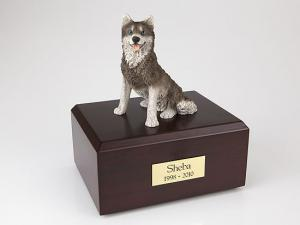 Husky Dog Figurine Cremation Urn
