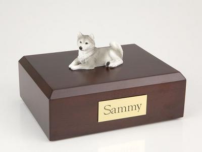 Husky, Gray  Dog Figurine Cremation Urn