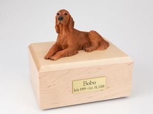 Irish Setter Dog Figurine Cremation Urn