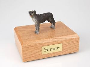Irish Wolfhound Dog Figurine Cremation Urn