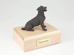Jack Russell Terrier, Bronze  Dog Figurine Cremation Urn