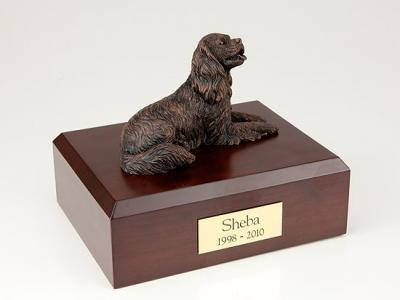 King Charles Spaniel, Bronze  Dog Figurine Cremation Urn