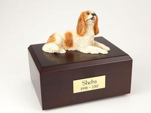 King Charles Spaniel, Brown Dog Figurine Cremation Urn
