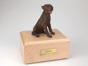 Labrador, Chocolate Sitting Dog Figurine Cremation Urn