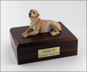 Labrador, Golden Laying Dog Figurine Cremation Urn