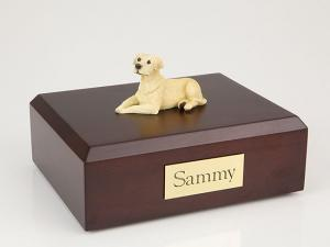Labrador, Yellow Laying Dog Figurine Cremation Urn