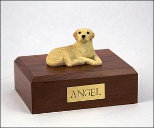 Labrador, Yellow Sleeping Dog Figurine Cremation Urn