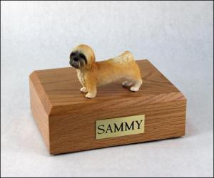 Lhasa Apso, Brown, Puppycut  Dog Figurine Cremation Urn