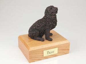 Newfoundland, Bronze Dog Figurine Cremation Urn