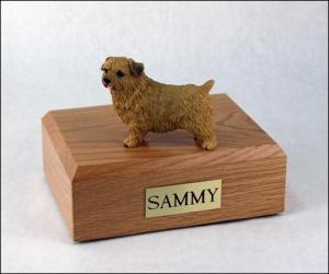 Norfolk Terrier Dog Figurine Cremation Urn