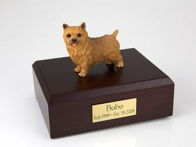 Norwich Terrier Dog Figurine Cremation Urn