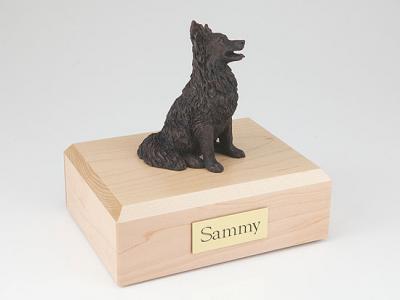 Papillon, Bronze Dog Figurine Cremation Urn