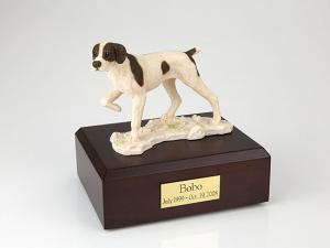 Pointer Dog Figurine Cremation Urn