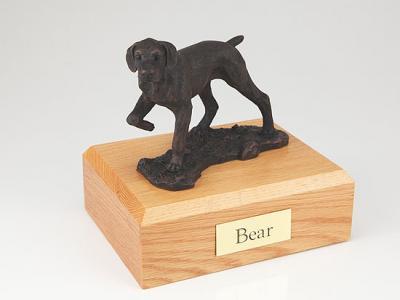 Pointer, Bronze Dog Figurine Cremation Urn