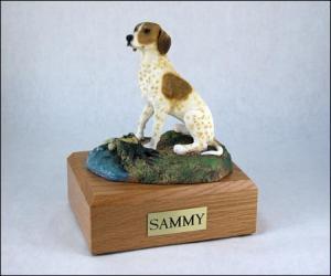Pointer, Brown-White Dog Figurine Cremation Urn