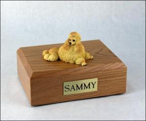 Poodle, Apricot - show cut Dog Figurine Cremation Urn