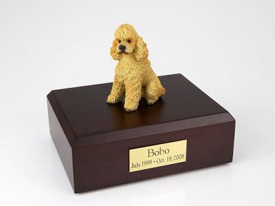 Poodle, Apricot - sport cut Dog Figurine Cremation Urn