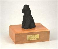 Poodle, Black Dog Figurine Cremation Urn