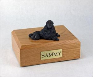Poodle, Black - show cut Dog Figurine Cremation Urn