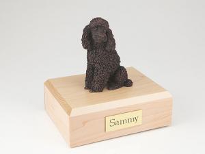 Poodle, Bronze Dog Figurine Cremation Urn