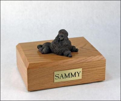 Poodle, Chocolate - show cut  Dog Figurine Cremation Urn