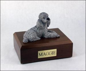 Poodle, Gray Dog Figurine Cremation Urn