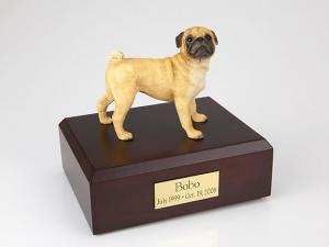 Pug Dog Figurine Cremation Urn