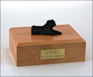 Pug, Black Dog Figurine Cremation Urn
