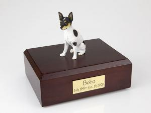 Rat Terrier Dog Figurine Cremation Urn