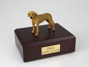 Rhodesian Ridgeback Standing Dog Figurine Cremation Urn