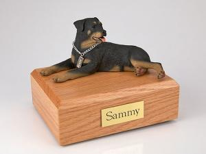 Rottweiler Dog Figurine Cremation Urn