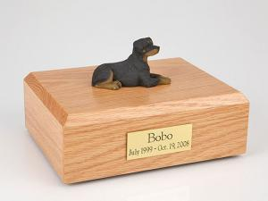 Rottweiler Sleeping Dog Figurine Cremation Urn