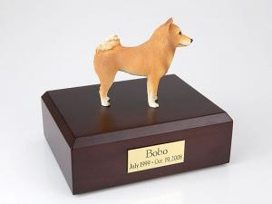 Finnish Spitz Standing Dog Figurine Cremation Urn