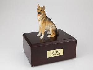 Shepherd German  Sitting Dog Figurine Cremation Urn