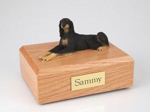 Saluki, Lying Dog Figurine Cremation Urn
