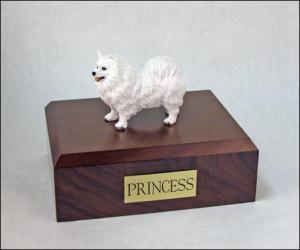 Samoyed Dog Figurine Cremation Urn